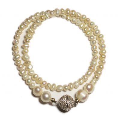 Pearl double bracelet