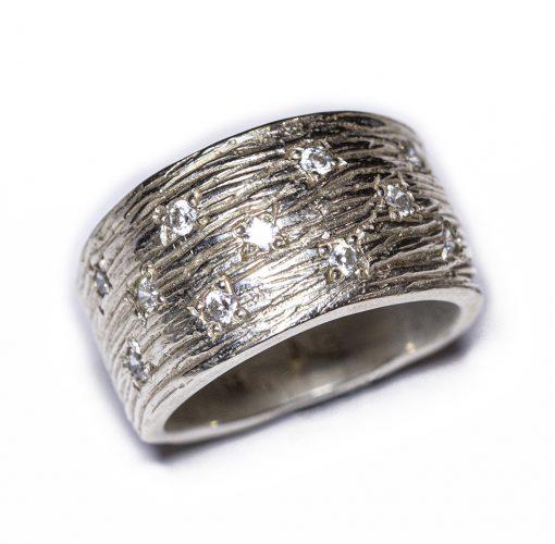 Textured topaz ring