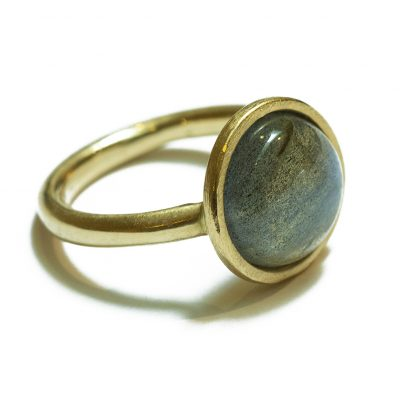 18K gold Labrodorite ring